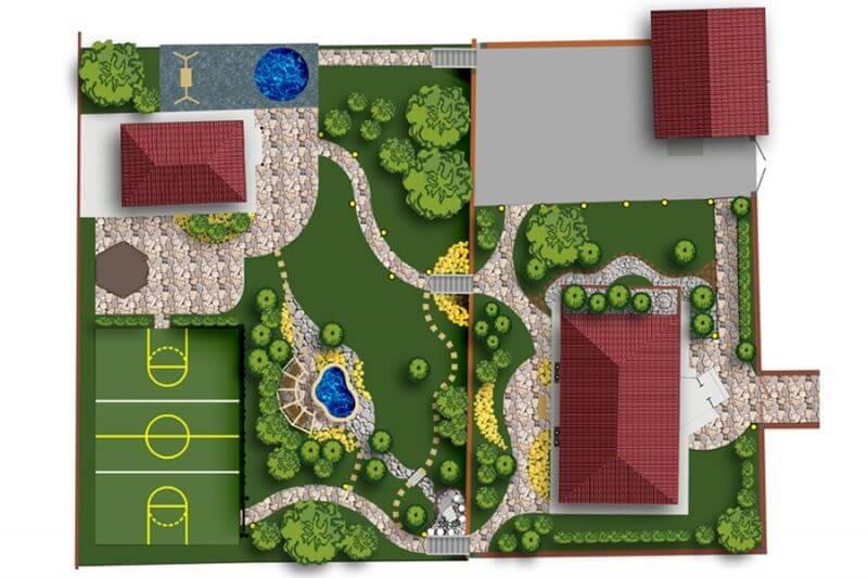 План земельного участка жилого дома