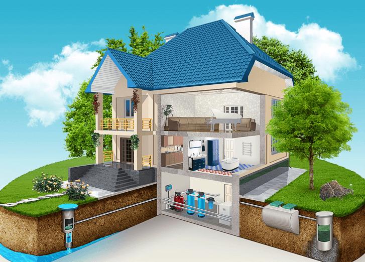 Схема водоснабжения частного дома - основные составляющие
