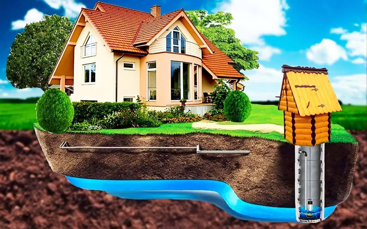 Как проложить водопровод от колодца к дому